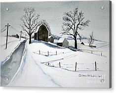 Strutt Road Wayland Ny Acrylic Print by Joan Hartenstein