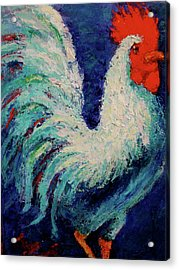 Acrylic Print featuring the painting Strutting Along by Marie Hamby
