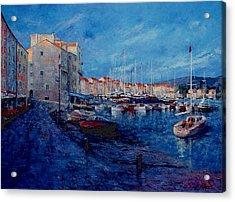 St.tropez  - Port -   France Acrylic Print by Miroslav Stojkovic - Miro