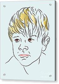 Stubborn Boy Acrylic Print