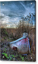 Stuck In The Marsh Acrylic Print by Michael  Ayers