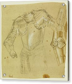 Studies Of Armor Paolo Veronese Paolo Caliari Or Workshop Acrylic Print by Litz Collection