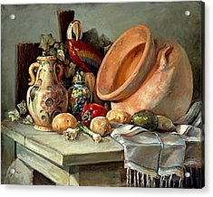 Studio Still Life Acrylic Print by Gini Heywood