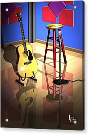 Studio Time Acrylic Print by Patrick Belote