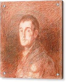Study For An Equestrian Portrait Of The Duke Of Wellington 1769-1852 C.1812  Acrylic Print by Francisco Jose de Goya y Lucientes
