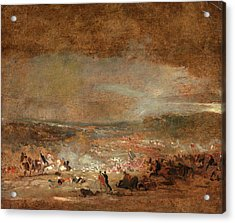 Study For Battle Of Waterloo Study For Battle Of Waterloo Acrylic Print by Litz Collection
