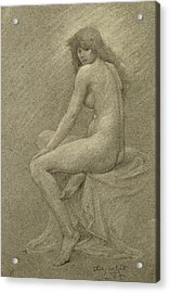 Study For Lilith Acrylic Print by Robert Fowler