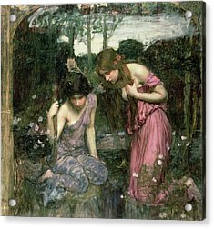 Study For Nymphs Finding The Head Of Orpheus, C.1900 Oil On Canvas Acrylic Print