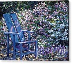 Study In Blue Acrylic Print by David Lloyd Glover
