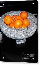 Study In Orange And Grey Acrylic Print by Susan Williams