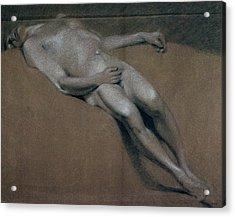 Study Of A Recumbent Male Nude Acrylic Print