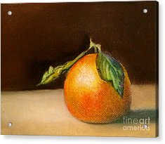 Study Of A Tangerine Acrylic Print by Lamarr Kramer