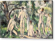 Study Of Bathers Acrylic Print by Paul Cezanne