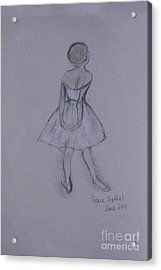 Study Of Degas Ballet Dancer Acrylic Print by Jennifer Apffel