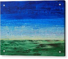 Acrylic Print featuring the painting Study Of Earth And Sky by Linda Bailey