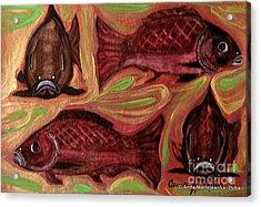 Study Of Fish Acrylic Print by Anna Folkartanna Maciejewska-Dyba