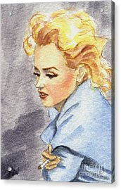 study of Marilyn Monroe Acrylic Print