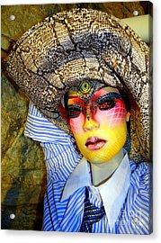 Stunning In Snakeskin Acrylic Print by Ed Weidman