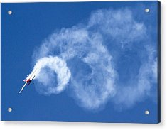 Stunt Plane Corkscrew Acrylic Print
