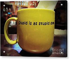 Stupid Is... Acrylic Print