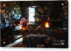 Sturbridge Village Blacksmith Acrylic Print by Scott Thorp
