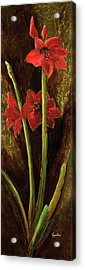 Acrylic Print featuring the painting Sturdy Blooms by Vic  Mastis