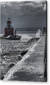 Sturgeon Bay After The Storm Acrylic Print by Joan Carroll