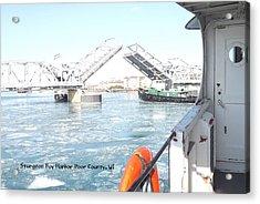 Sturgeon Bay's Working Harbor Acrylic Print by Dave Pape