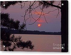 Sturgeon Lake Mn Sunset Acrylic Print
