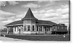 Acrylic Print featuring the photograph Sturtevant Old Hiawatha Depot In Hdr by Ricky L Jones
