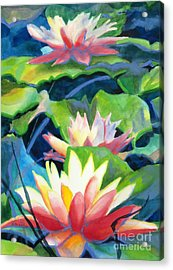 Styalized Lily Pads 3 Acrylic Print by Kathy Braud