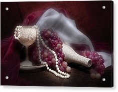 Stylish Wine Still Life Acrylic Print