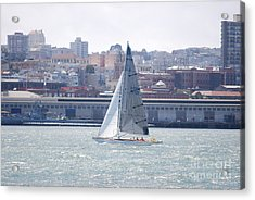 Acrylic Print featuring the photograph Sub Sail Chocolate by George Mount