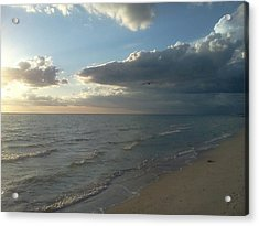 Subdued Sunset Acrylic Print by K Simmons Luna