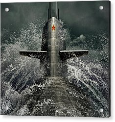 Submarine Acrylic Print by Dmitry Laudin