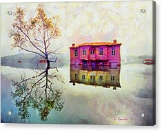 Submerged Reflections Acrylic Print by George Rossidis