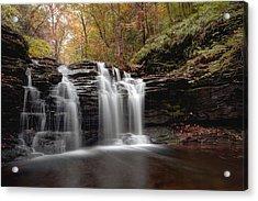 Subtle Fall Hues At Wyandot Falls Acrylic Print