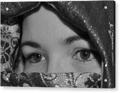 Subtle Gaze Acrylic Print by Michelle McPhillips