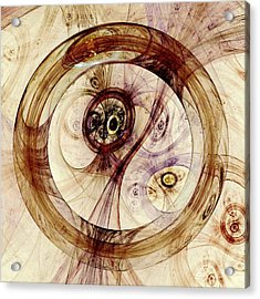 Subtle Ring Acrylic Print by Anastasiya Malakhova