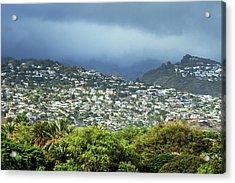 Suburb Of Honolulu Acrylic Print by Babak Tafreshi