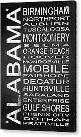 Subway Alabama State 1 Acrylic Print