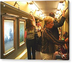 Acrylic Print featuring the photograph Subway Art by Julia Ivanovna Willhite