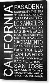 Subway California State 2 Acrylic Print by Melissa Smith