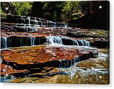 Subway Falls Acrylic Print by Chad Dutson
