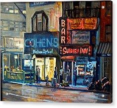 Subway Inn New York City Nyc Acrylic Print