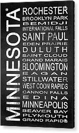 Subway Minnesota State 1 Acrylic Print by Melissa Smith