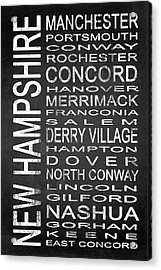 Subway New Hampshire State 1 Acrylic Print