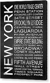 Subway New York 3 Acrylic Print by Melissa Smith