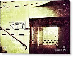 Acrylic Print featuring the photograph Subway  by Nick  Biemans