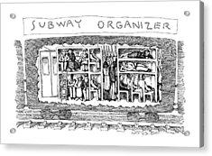Subway Organizer Acrylic Print